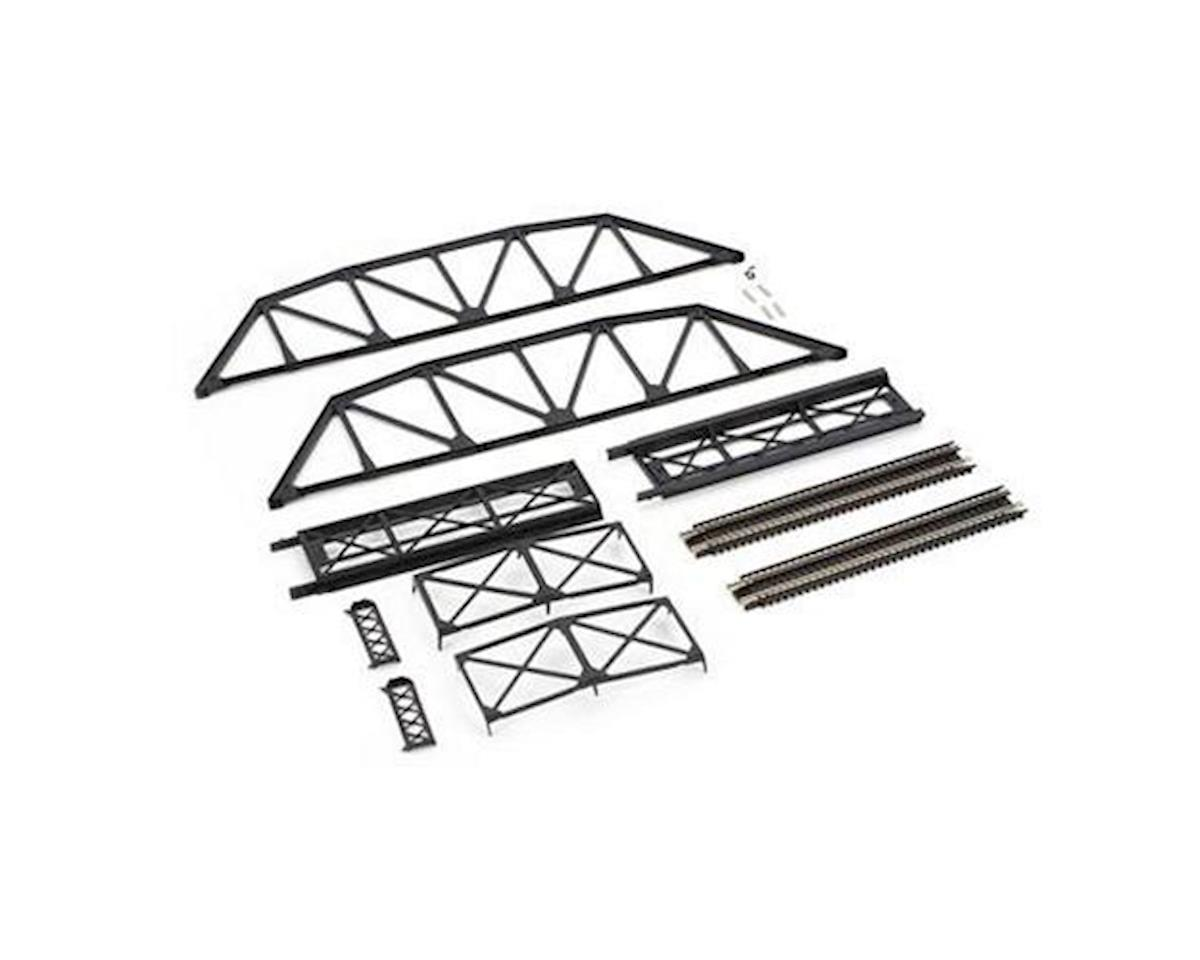 Atlas Railroad N Code 80 Black Through Truss Bridge Kit