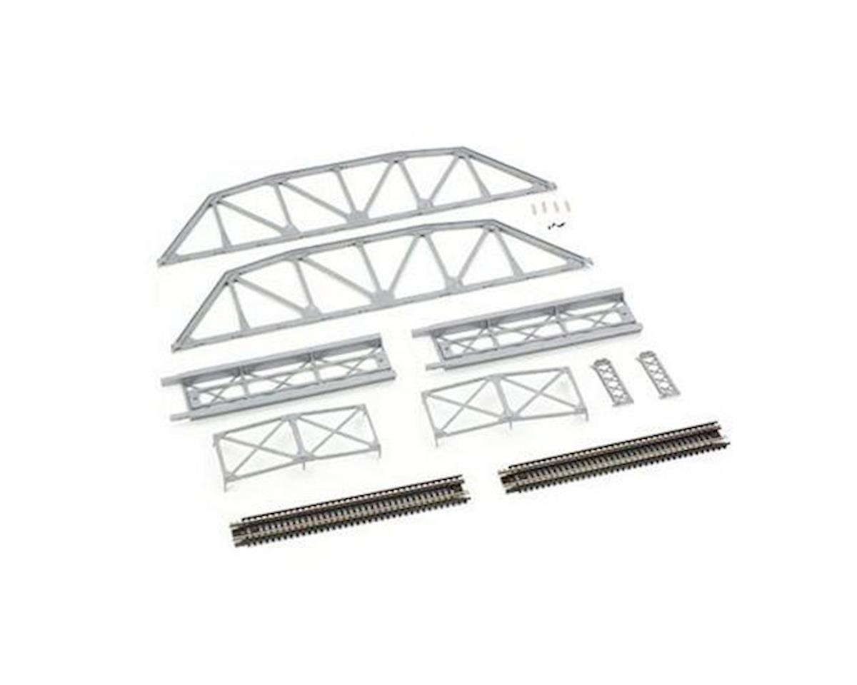 N Code 80 Silver Through Truss Bridge Kit by Atlas Railroad