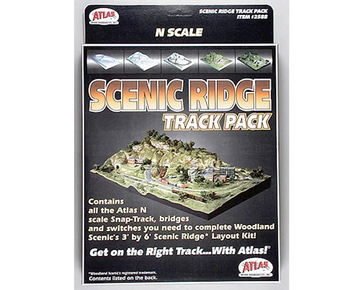 2588 Code 80 Scenic Ridge Track Pack (for WOOU0482) N by Atlas Railroad