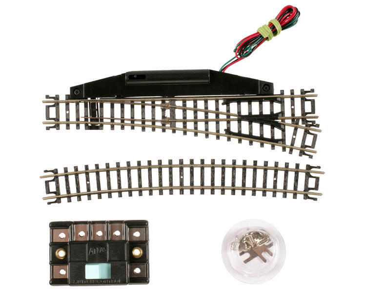 Atlas Railroad N-Gauge Code 80 Remote Right-Hand Switch