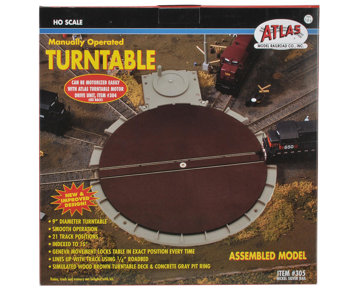 Atlas Model Railroad HO-Scale Manual Turntable