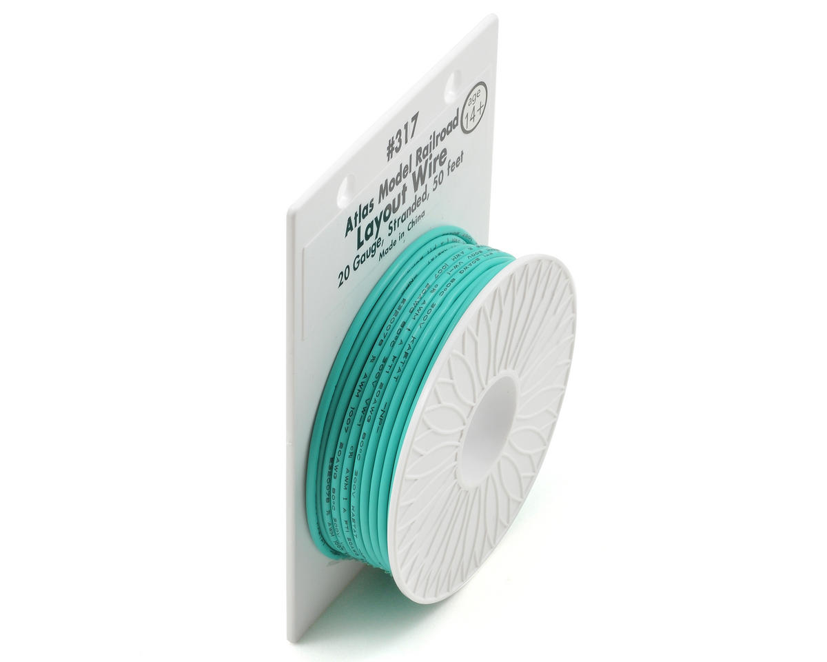 Atlas Railroad 20 Gauge Stranded Layout Wire (Green) (50')