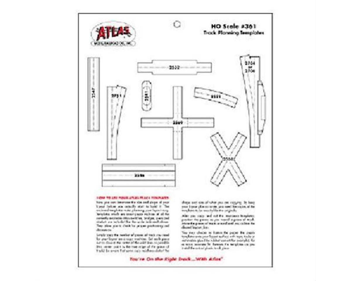 HO Track Planning Templates by Atlas Railroad