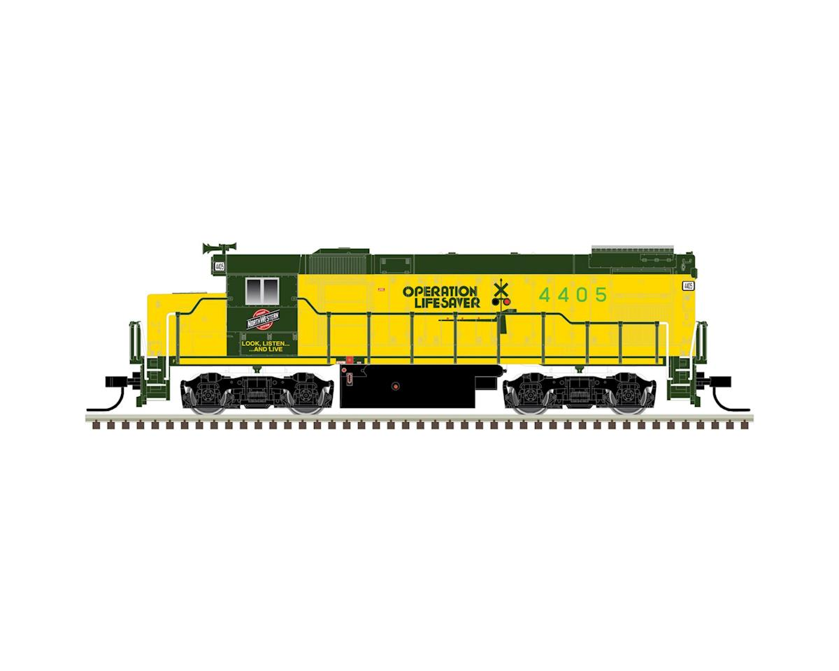 Atlas Railroad N Trainman GP15-1, C&NW/Operation Lifesaver #4405