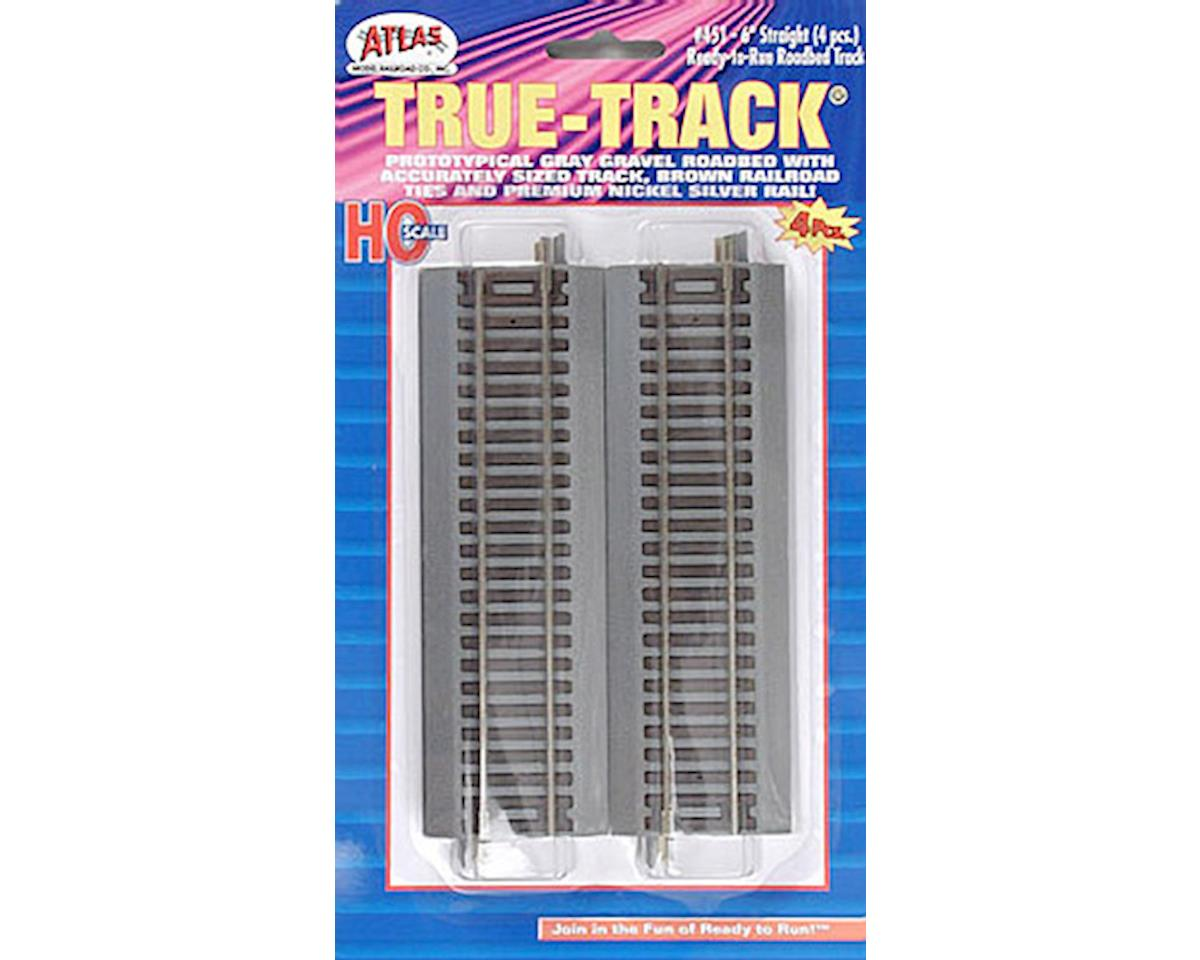 "Atlas Railroad 451 6"" Straight True-Track (4) HO"