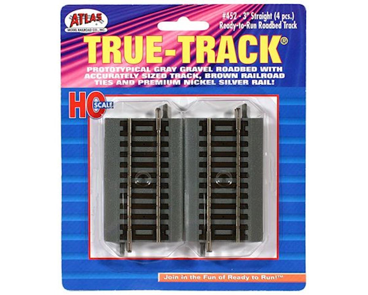 """Atlas Railroad HO True-Track 3"""" Straight (4)"""