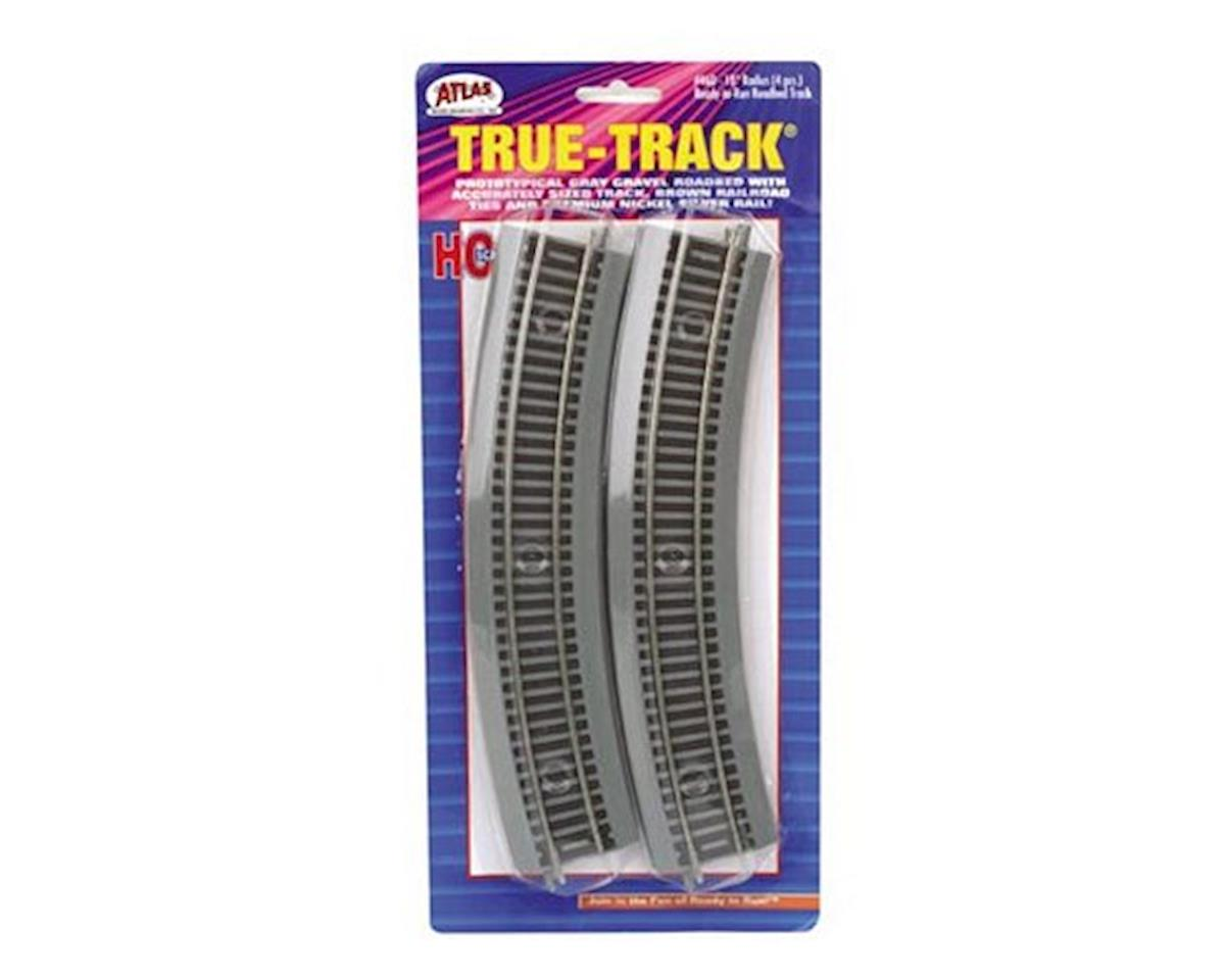 "Atlas Railroad HO True-Track 18"" Radius Curve (4)"