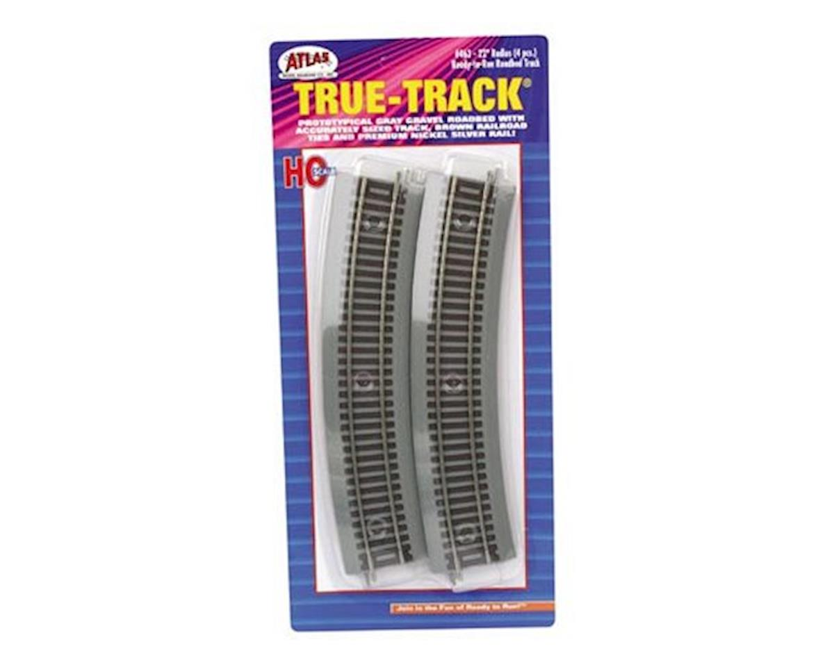 "HO True-Track 22"" Radius Curve (4) by Atlas Railroad"