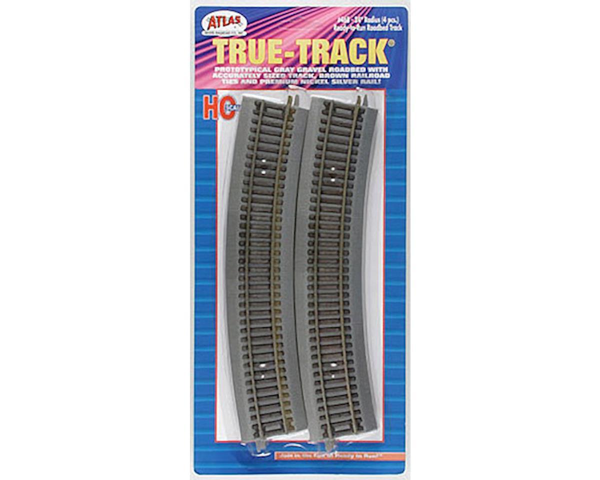 "HO True-Track 24"" Radius Curve (4) by Atlas Railroad"