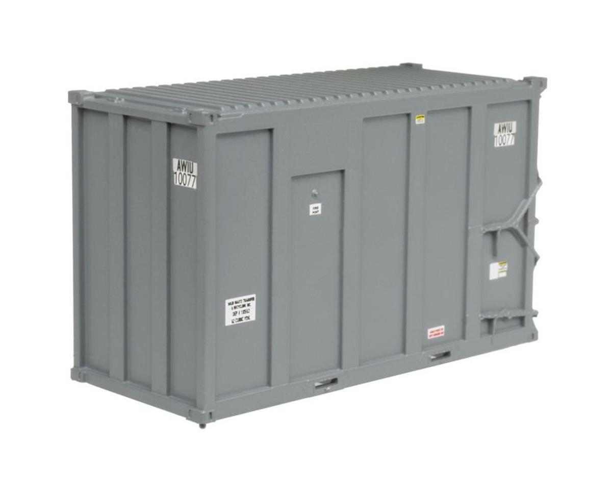 Atlas Railroad N TM 20' High-Cube MSW Container, AMIU/1000 #2 (4)
