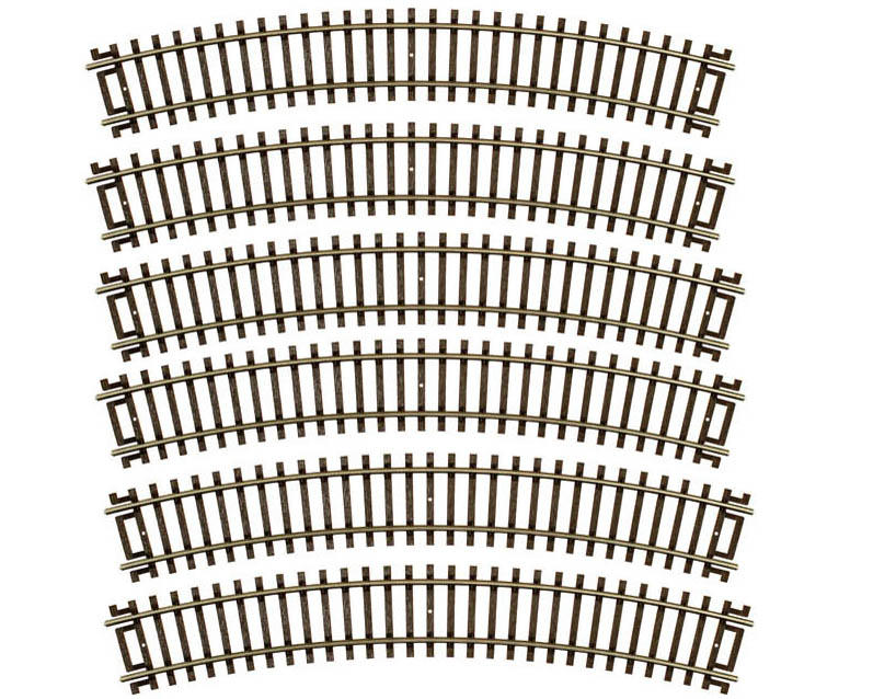 "HO-Gauge Code 83 Snap-Track 15"" Radius Curve (6) by Atlas Railroad"