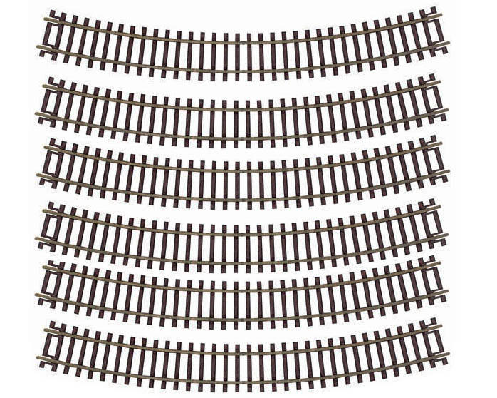 "Atlas Model Railroad HO-Gauge Code 83 Snap-Track 18"" Radius Curve (6)"