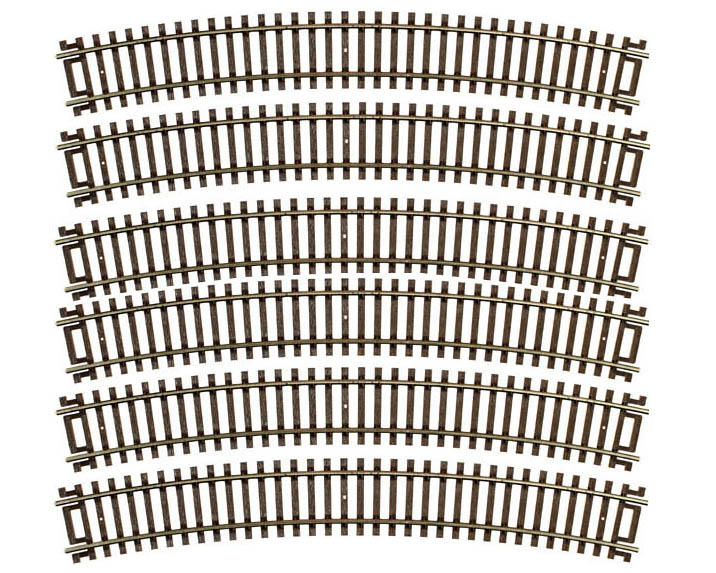 "Atlas Model Railroad HO-Gauge Code 83 Snap-Track 22"" Radius Curve (6)"