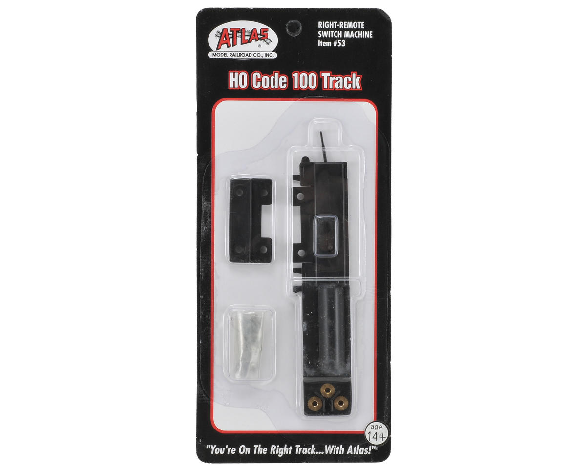 Atlas Railroad HO-Gauge Code 100 Remote Right-Hand Switch Machine