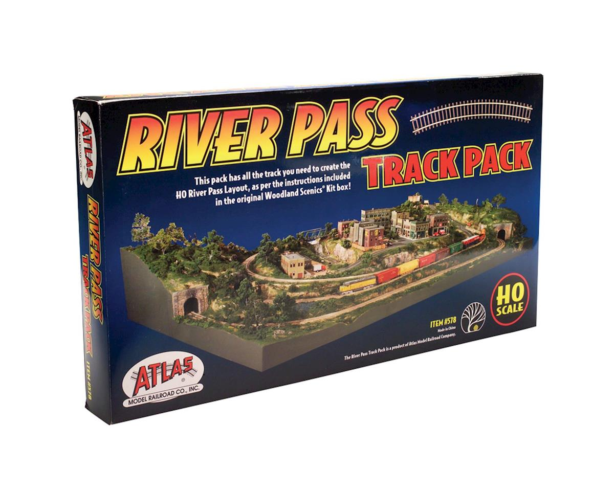 HO River Pass Track Pack by Atlas Railroad