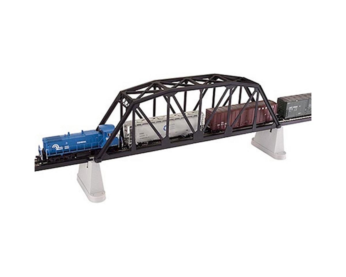 "HO KIT Code 83 18"" Through Truss Bridge, Black by Atlas Railroad"