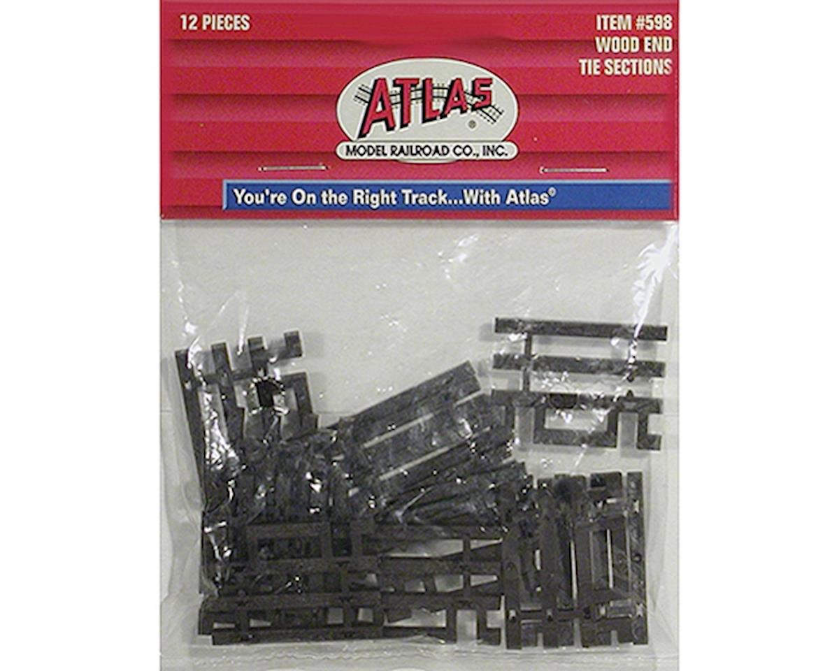 HO Code 83 Flex-Track End Ties (6) by Atlas Railroad