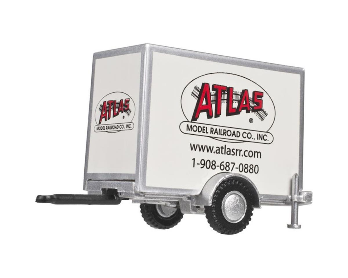 Atlas Railroad HO Box Trailer w/Single Axle, Atlas Model RR logo