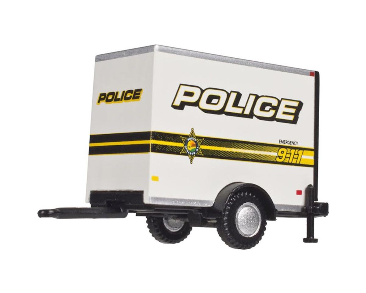 Atlas Railroad HO Box Trailer w/Single Axle, Police 911