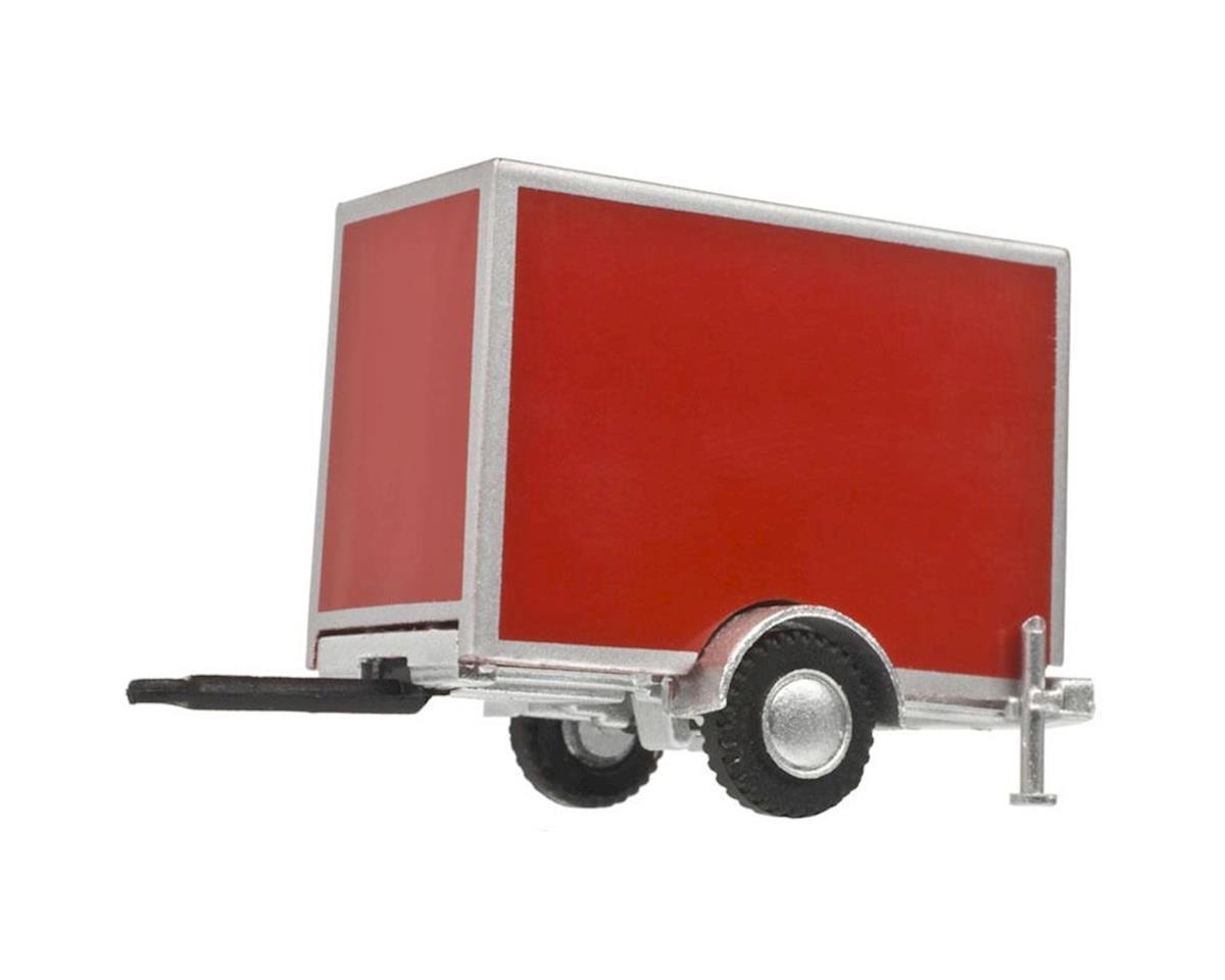 Atlas Railroad HO Box Trailer w/Single Axle, Red