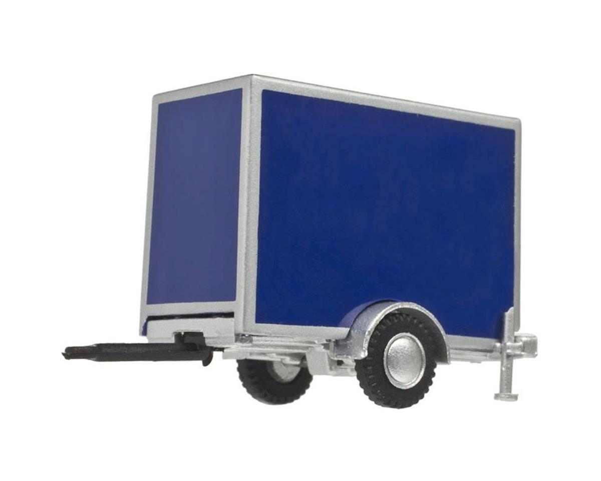 Atlas Railroad HO Box Trailer w/Single Axle, Blue