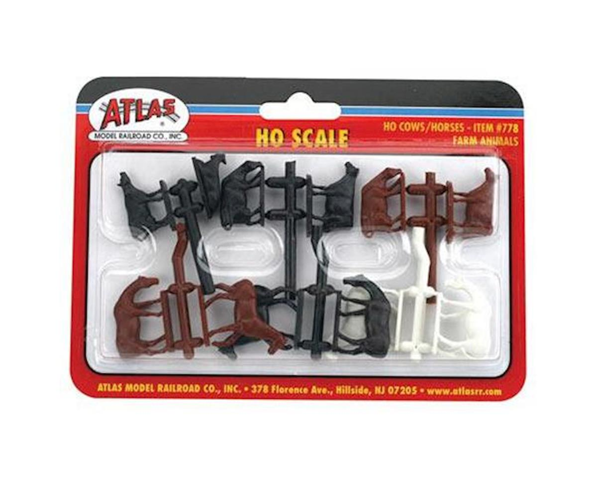 Atlas Railroad HO Cows & Horses (12)