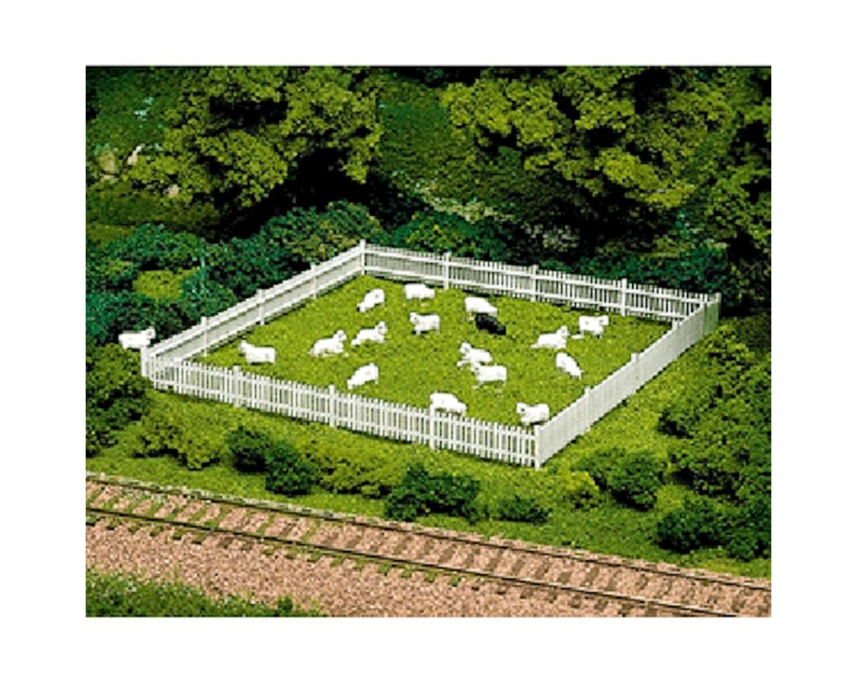 Atlas Railroad HO Sheep (12 White & 1 Black)