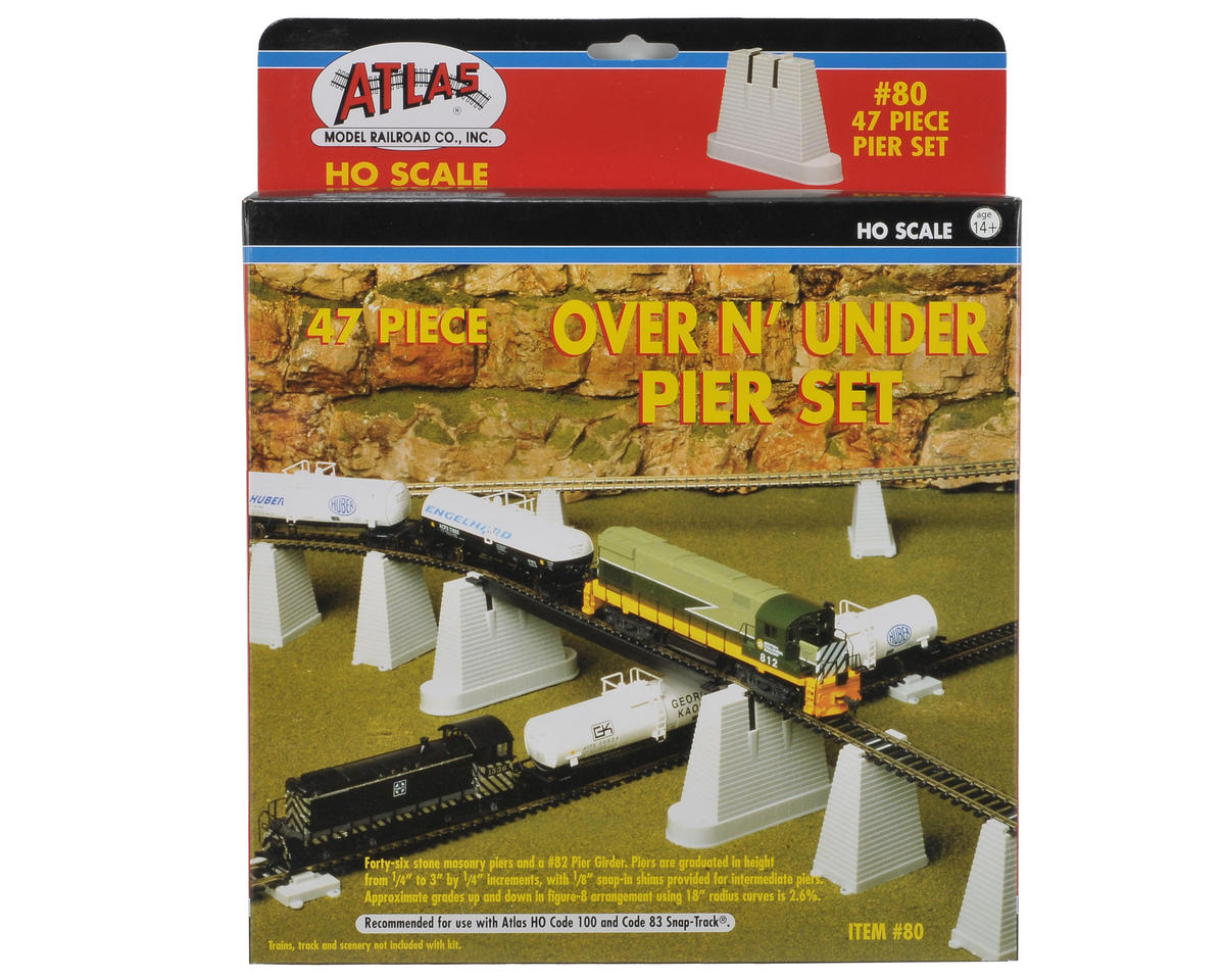 HO-Scale Over & Under Pier Set (47) by Atlas Railroad