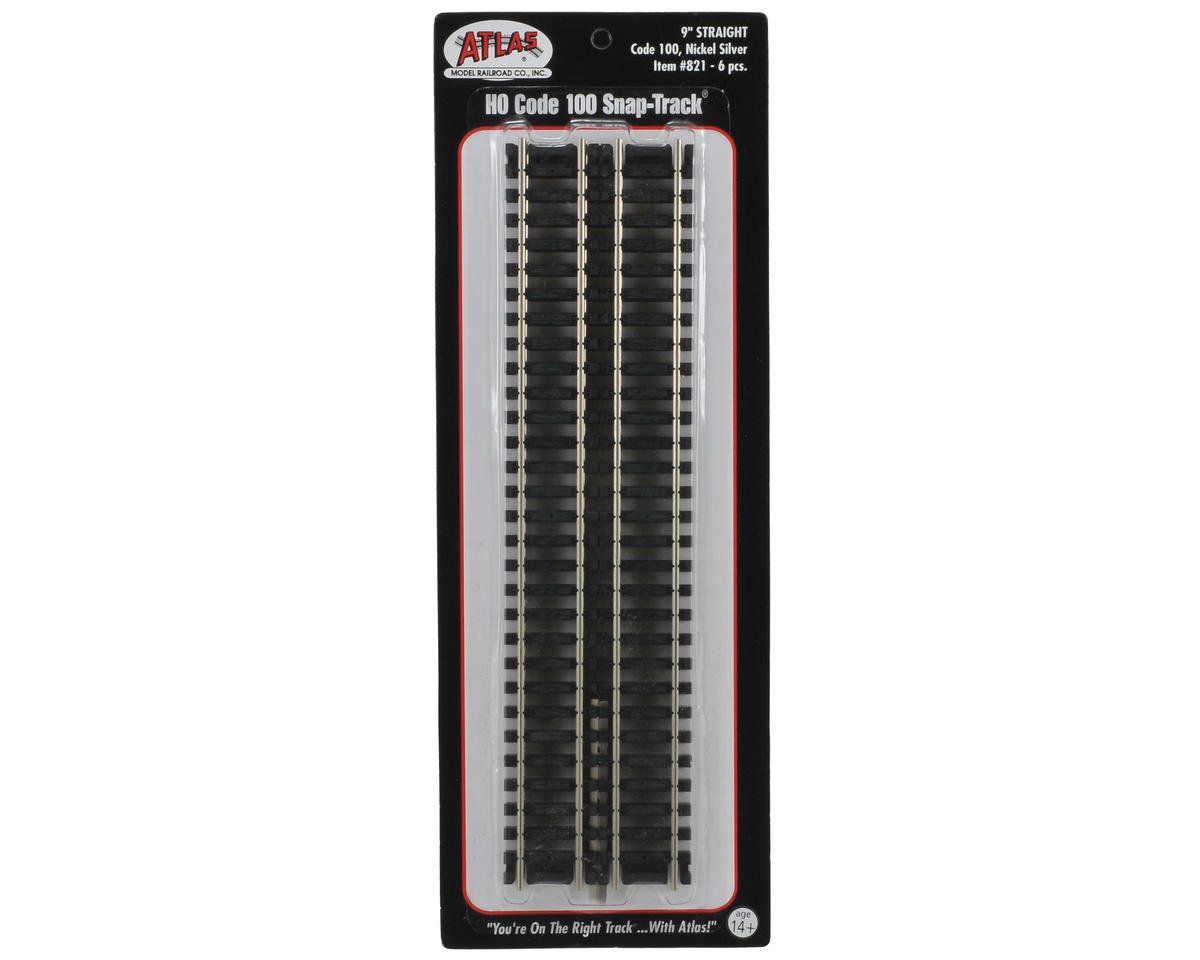 "HO-Scale Code 100 9"" Straight Track (6) (Nickel Silver)"
