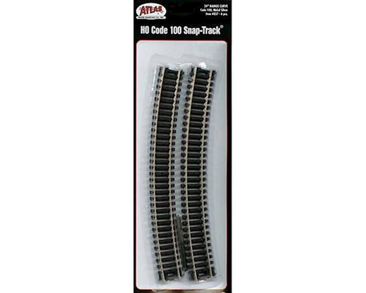 Atlas Railroad HO CD 100 24 RAD CURVE