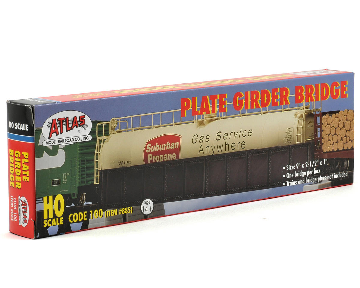 Atlas Railroad HO-Gauge Code 100 Snap-Track Plate Girder Bridge