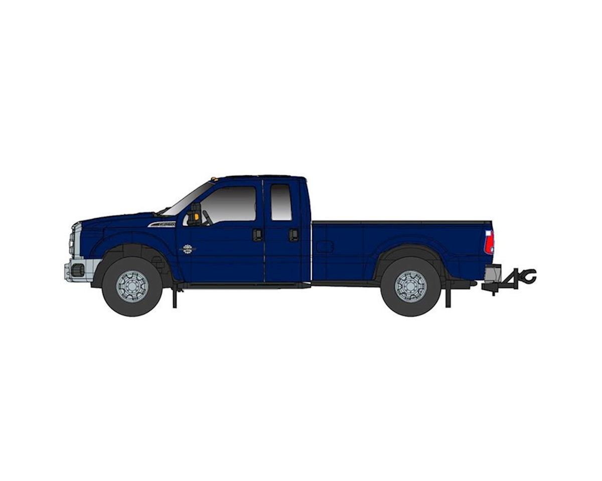 Atlas O 1:50 Ford F250 XLT w/Super Cab/8ft Bed, Dark Blue