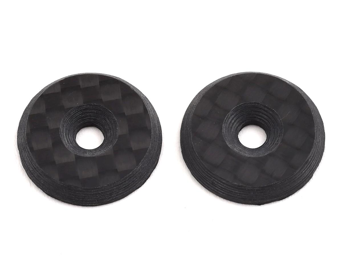 Avid RC Carbon Fiber Wing Mount Buttons (Schumacher Cougar KR)