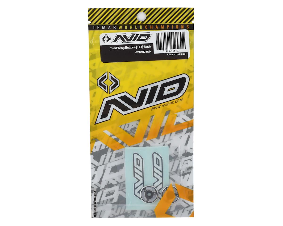 Avid RC Triad HD Wing Mount Buttons (2) (Black/Silver)