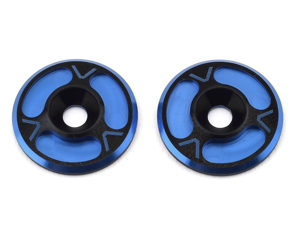 Avid RC Triad HD Wing Mount Buttons (2) (Black/Blue) (Losi 8IGHT-T Nitro RTR)