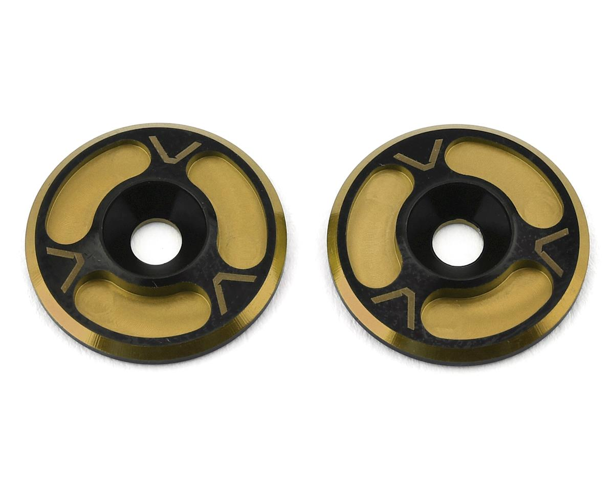 Avid RC Triad HD Wing Mount Buttons (2) (Black/Gold) (Losi 8IGHT-T Nitro RTR)