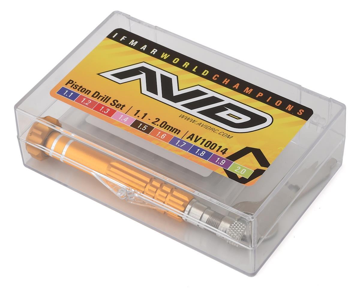Avid RC Metric Shock Piston Drill Set (10) (1.1-2.0mm)