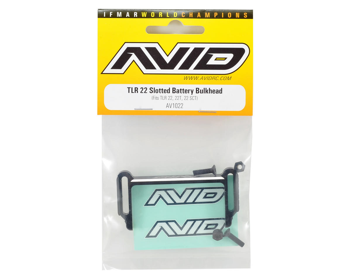 Avid RC TLR 22 Slotted Battery Bulkhead