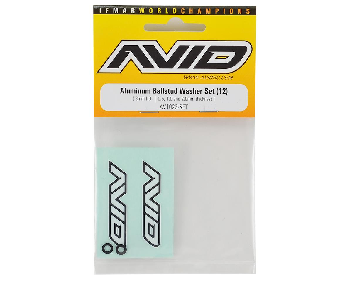 Avid RC Aluminum Ball Stud Washer Set (12)