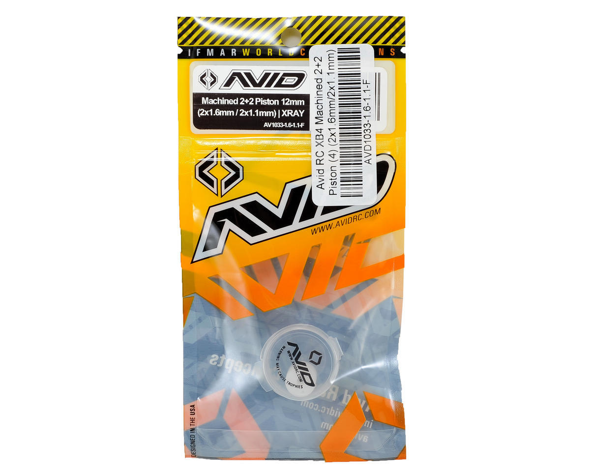 Avid RC XB4 Machined 2+2 Piston (4) (2x1.6mm/2x1.1mm)
