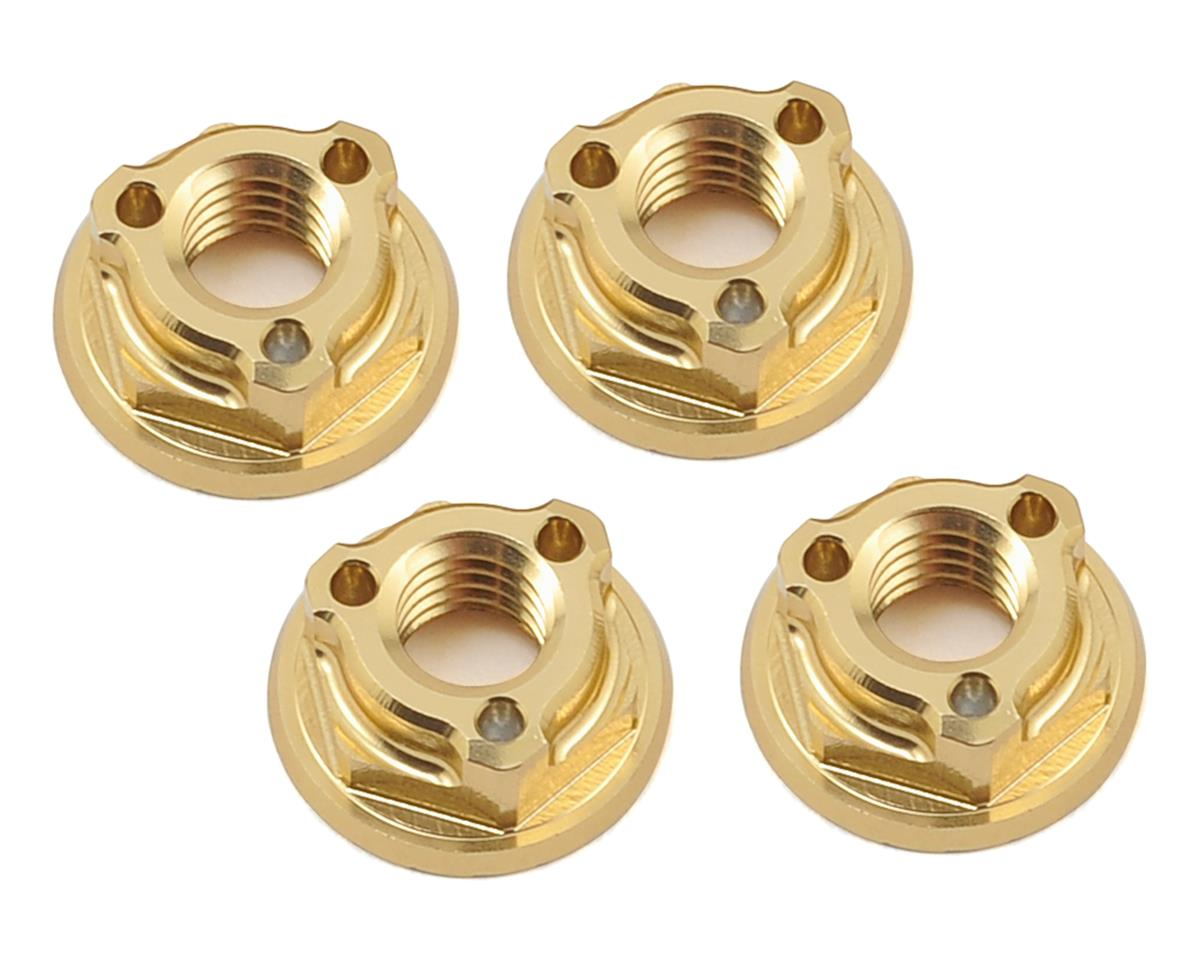 Avid RC Triad 4mm Light Weight Serrated Wheel Nut Set (4) (Gold) (Team Associated TC6.1)