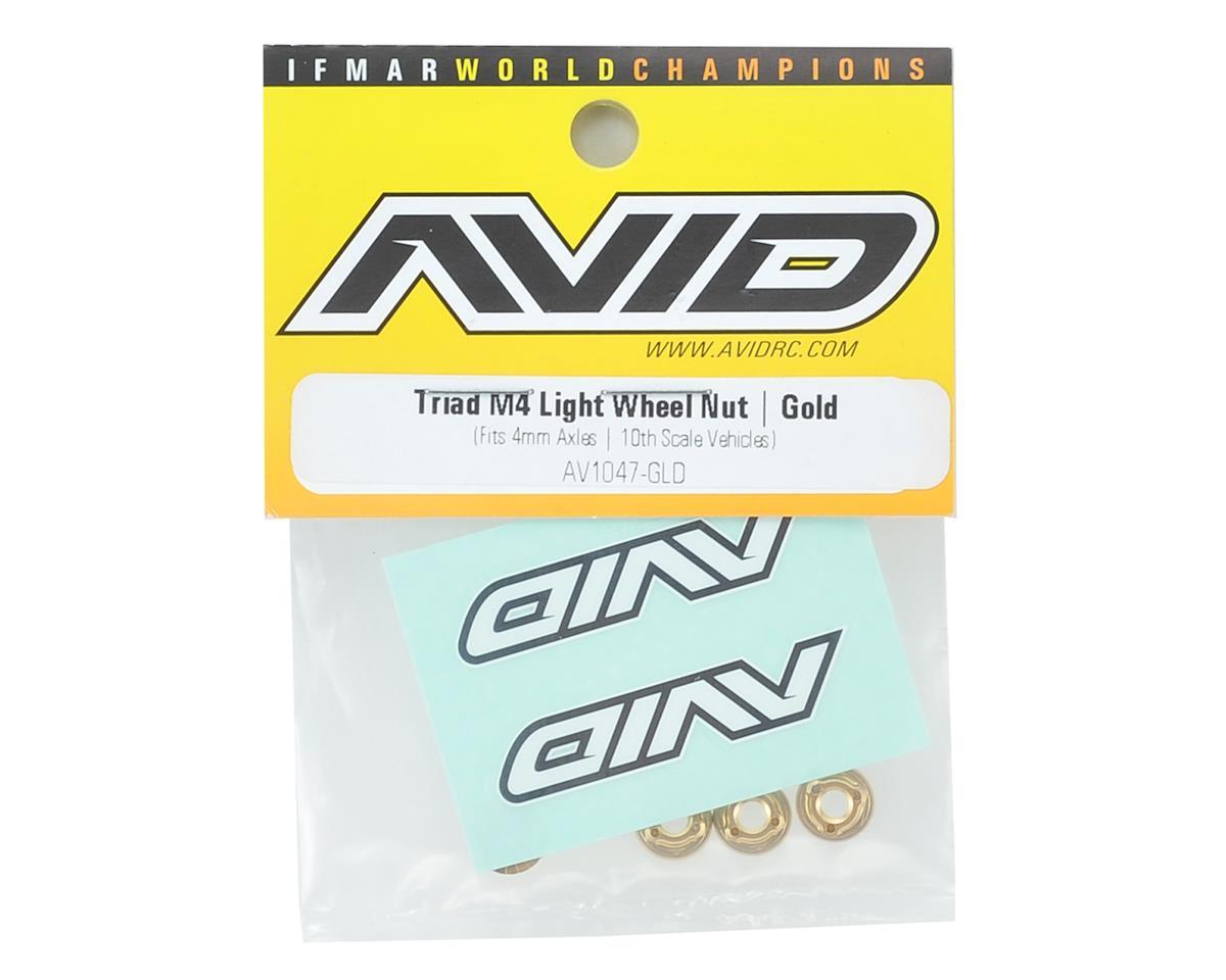 Triad 4mm Light Weight Serrated Wheel Nut Set (4) (Gold) by Avid RC