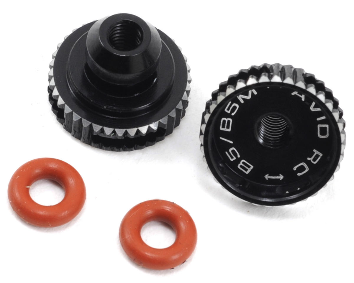 Avid RC B5/B5M Battery Strap Thumbwheels (Black)