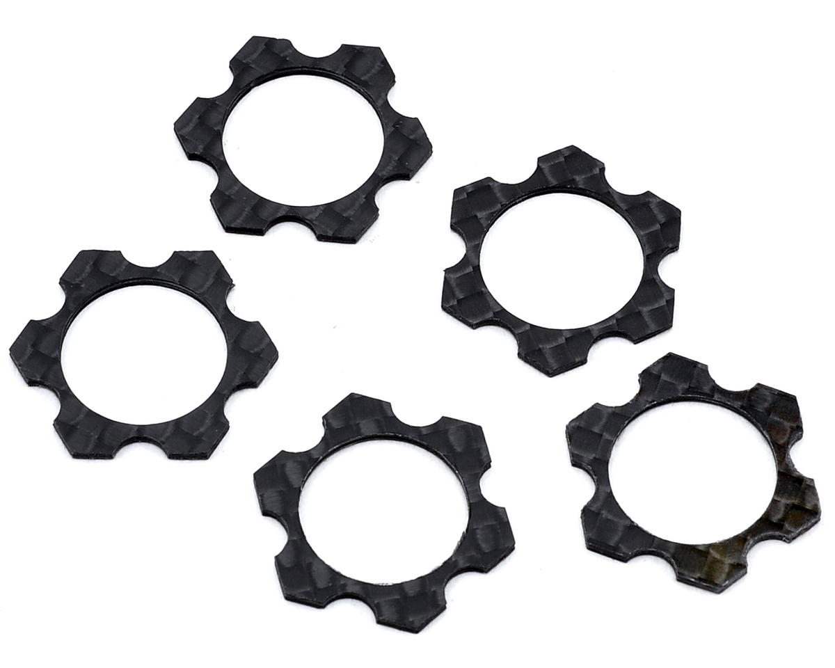 Avid RC 1/8 Carbon 1.0mm Track Width Spacers (5) (Kyosho Inferno VE)