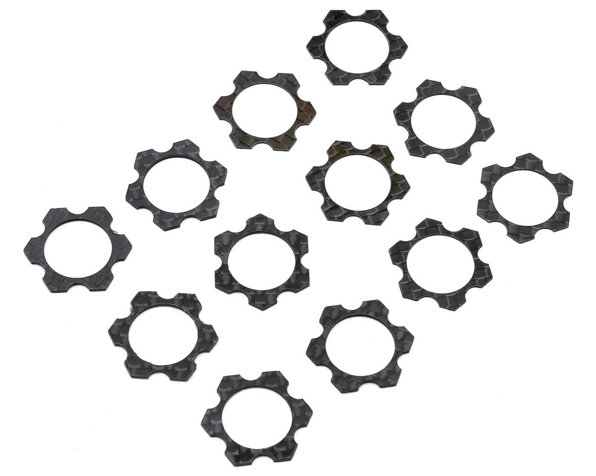 Avid RC 1/8 Carbon Track Width Spacers Set (12) (Hot Bodies Lightning Stadium)