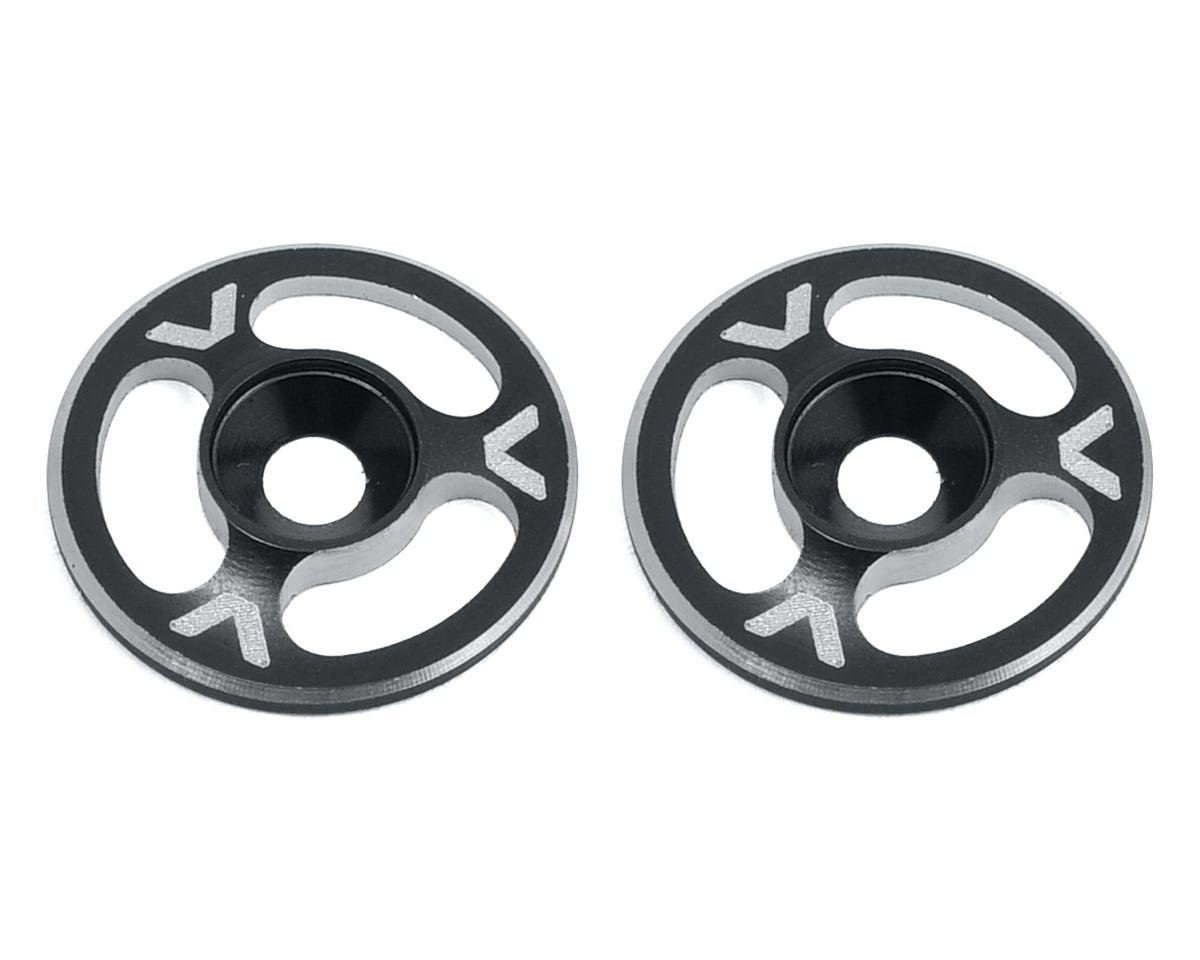 Avid RC Triad Wing Mount Buttons (2) (Black) (Mugen Seiki MBX6E ECO)