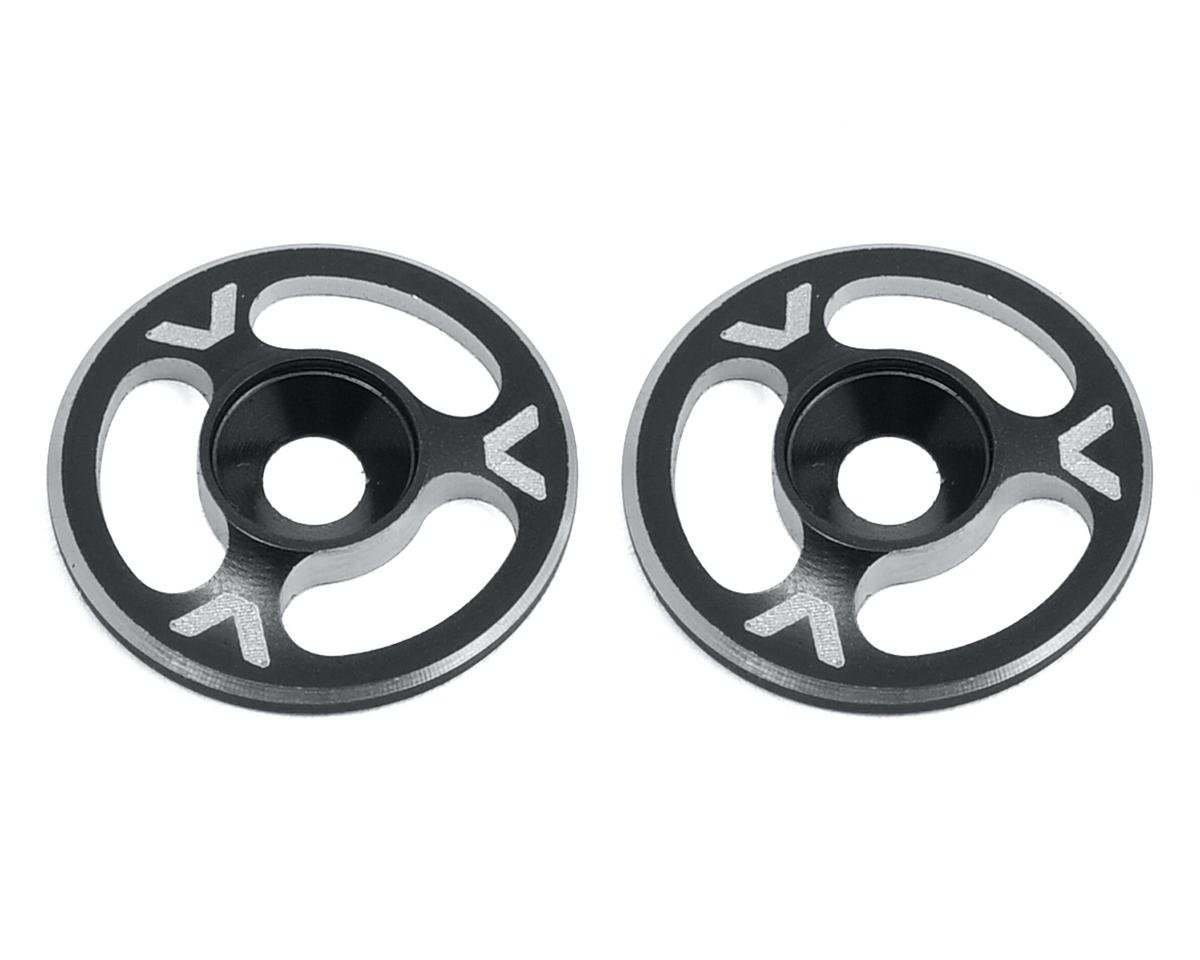 Avid RC Triad Wing Mount Buttons (2) (Black) (Team Associated RC8T)