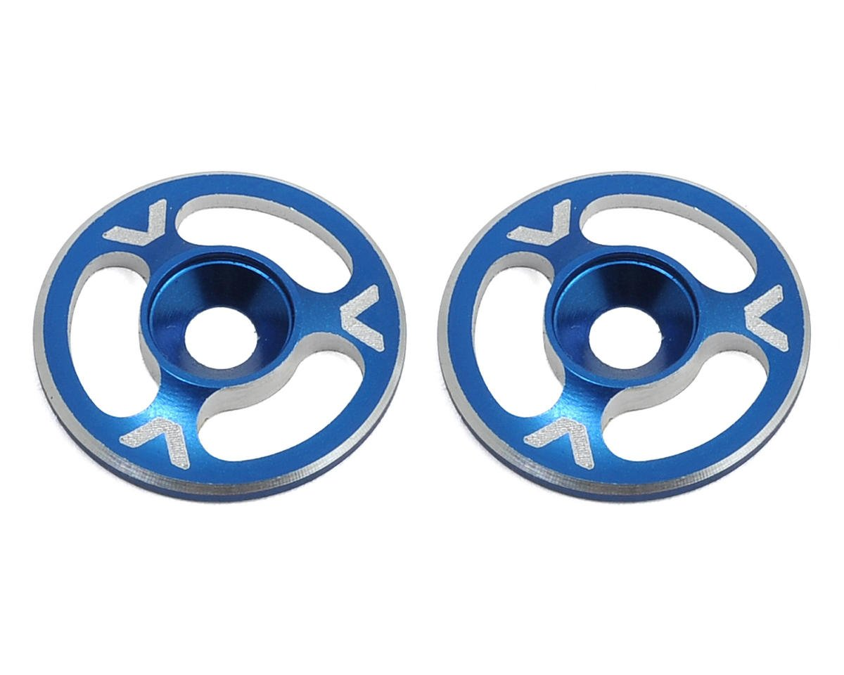 Avid RC Triad Wing Mount Buttons (2) (Blue) (JQ Products THE Car (1st Edition))