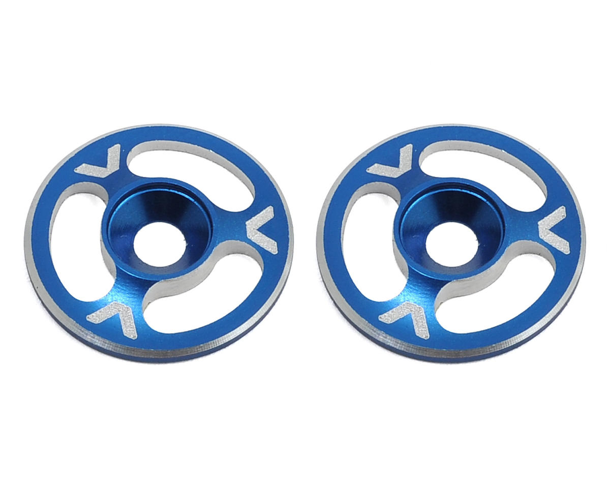 Avid RC Triad Wing Mount Buttons (2) (Blue) (Schumacher Cougar KF2)