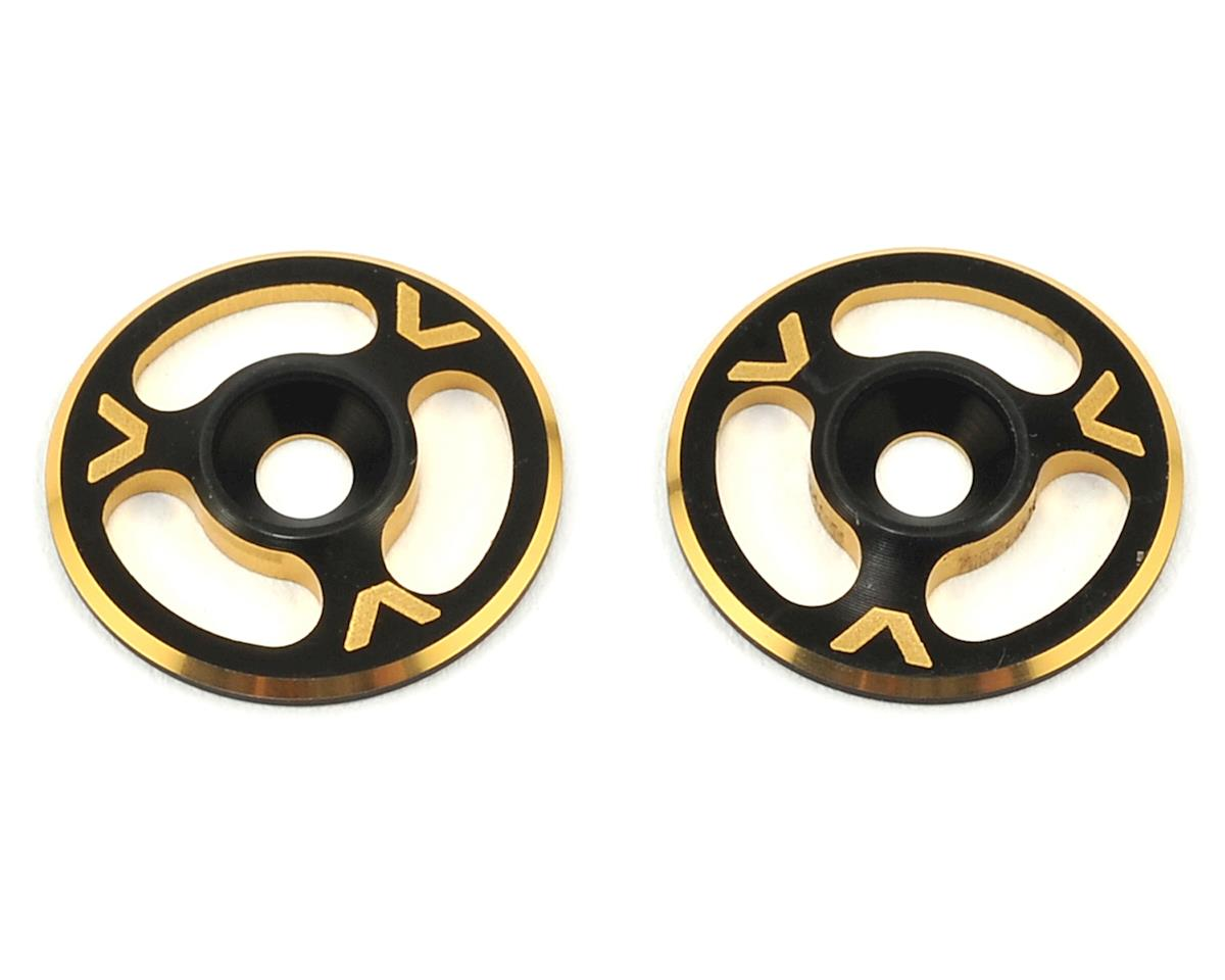 Avid RC Triad Wing Mount Buttons (2) (Black/Gold) (Schumacher Cougar KR)